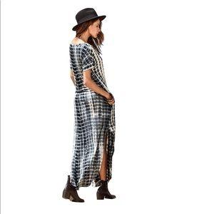 Dresses - Maxi Split Gray Tie Dye Dress